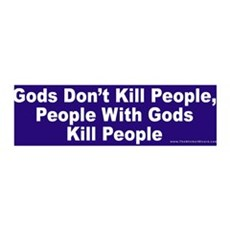 Gods Don't Kill People 36x11 Wall Peel