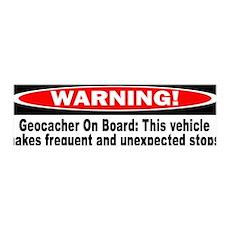 Warning! Geocacher On Board 36x11 Wall Peel