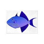 Niger Triggerfish 5'x7'Area Rug