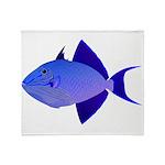 Niger Triggerfish Plush Fleece Throw Blanket