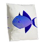 Niger Triggerfish Burlap Throw Pillow