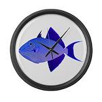 Niger Triggerfish Large Wall Clock