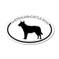 """""""Australian Cattle Dog"""" White 20x12 Oval Wall Peel"""