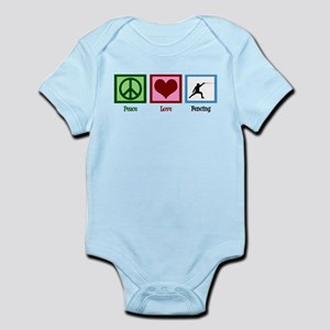 Peace Love Fencing Infant Bodysuit