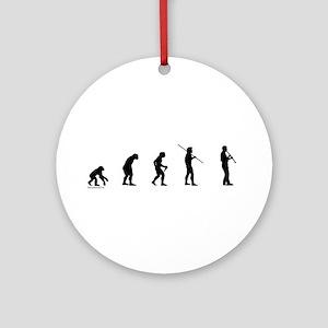 Clarinet Evolution Ornament (Round)