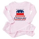 Squid pro Quo Toddler Pink Pajamas