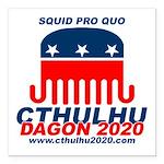 Squid pro Quo Square Car Magnet 3