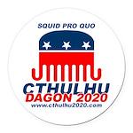 Squid pro Quo Round Car Magnet