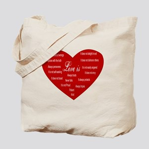 Love Is Heart Tote Bag