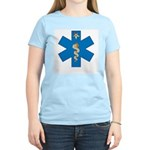 OES EMS Blue Star of Life Women's Pink T-Shirt