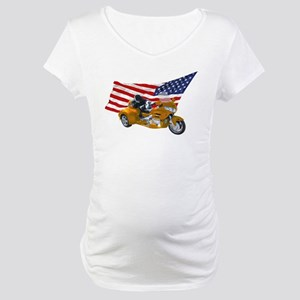 Old Glory Trike Maternity T-Shirt