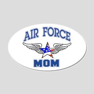 Air force Mom 20x12 Oval Wall Peel