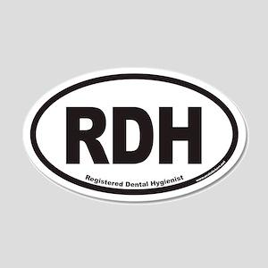 Registered Dental Hygienist RDH Euro 20x12 Oval Wa