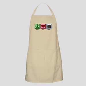 Peace Love Travel Apron