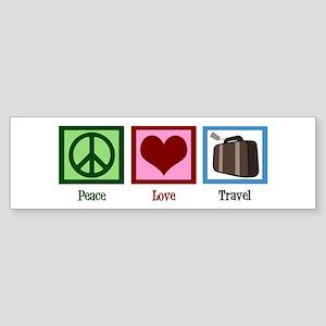 Peace Love Travel Sticker (Bumper)