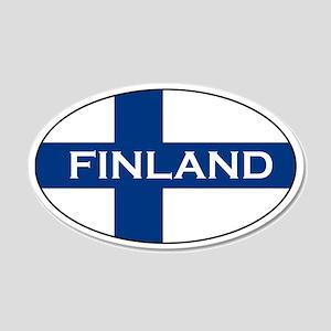 Finnish Stickers 20x12 Oval Wall Peel