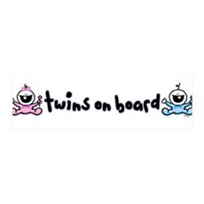 Twins on Board 2 36x11 Wall Peel