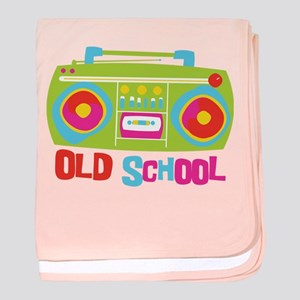 Old School Boom Box baby blanket