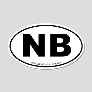 New Brunswick 20x12 Oval Wall Peel