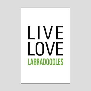 Live Love Labradoodles Mini Poster Print