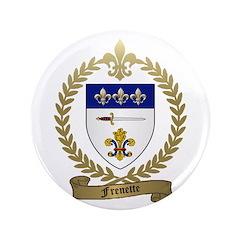 """FRENETTE Family Crest 3.5"""" Button (100 pack)"""