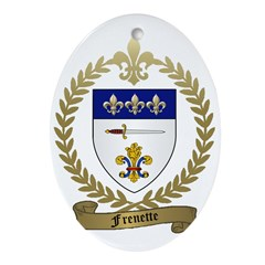 FRENETTE Family Crest Ornament (Oval)