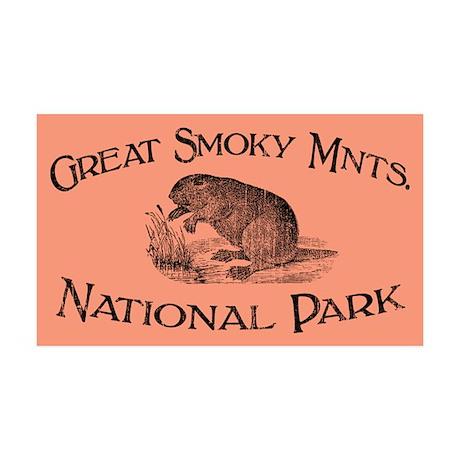 Great Smoky Mnts. (Beaver) 35x21 Wall Peel