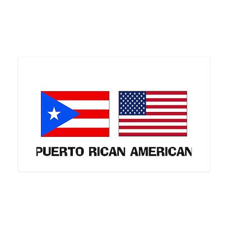 Puerto Rican American 35x21 Wall Peel
