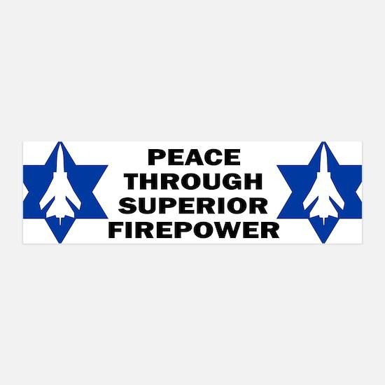 Israeli - Peace through superior firepower Sticke