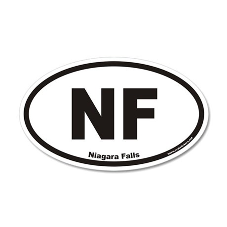 Niagara Falls NF Euro 35x21 Oval Wall Peel