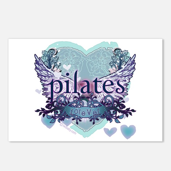 Pilates Forever by Svelte.biz Postcards (Package o