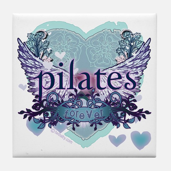 Pilates Forever by Svelte.biz Tile Coaster