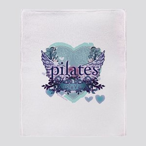 Pilates Forever by Svelte.biz Throw Blanket