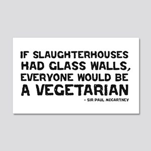 if slaughterhouses... 20x12 Wall Peel