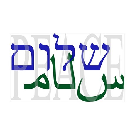 Shalom Salaam Peace 35x21 Wall Peel
