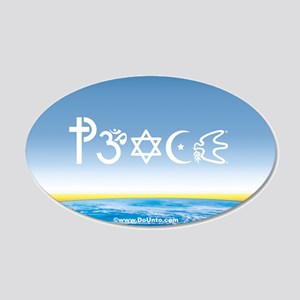 Peace-OM on earth Day 20x12 Oval Wall Peel