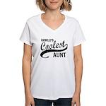 World's Coolest Aunt Women's V-Neck T-Shirt