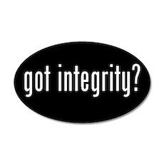 got integrity? 20x12 Oval Wall Peel