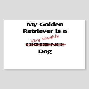 Naughty Obedience Dog Sticker (Rectangle)