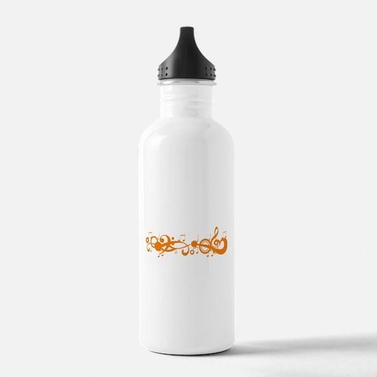 Orange Melody Water Bottle
