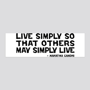 Quote - Gandhi - Live Simply 36x11 Wall Peel