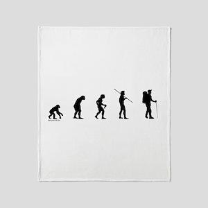 Hiker Evolution Throw Blanket