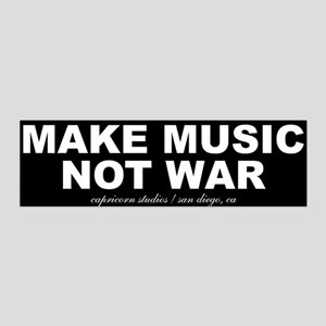 MAKE MUSIC NOT WAR 36x11 Wall Peel