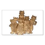 Gold Cows Sticker (Rectangle 50 pk)