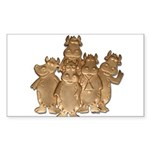 Gold Cows Sticker (Rectangle 10 pk)