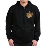 Gold Cows Zip Hoodie (dark)