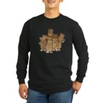 Gold Cows Long Sleeve Dark T-Shirt