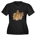 Gold Cows Women's Plus Size V-Neck Dark T-Shirt