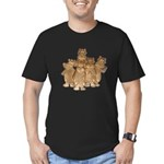 Gold Cows Men's Fitted T-Shirt (dark)