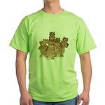 Gold Cows Green T-Shirt